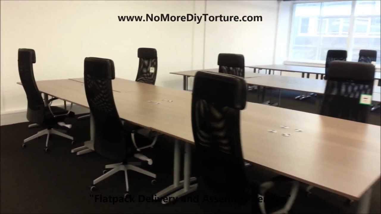 IKEA Office Furniture Galant Tables  YouTube
