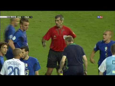 [FOOT] Mondial 2006 Finale France-Italie Zidane Carton rouge