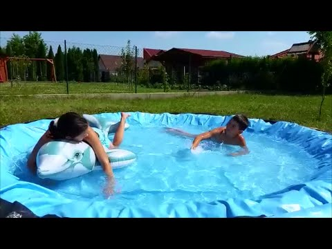 Plastik Pool how to build small pool - recycle plastic pool - youtube