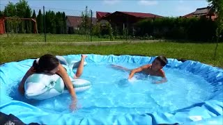 How to build small POOL - Recycle plastic pool