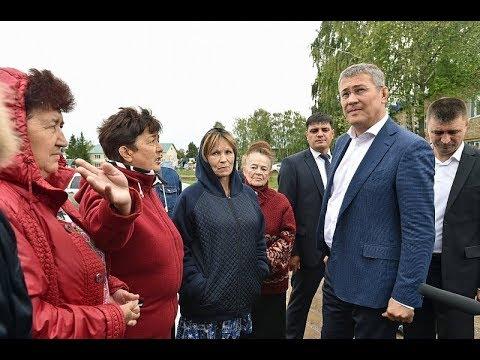 Радий Хабиров посетил Чекмагушевский и Дюртюлинский районы