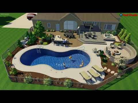 Sussex, WI -Linear Free Form Pool Concept Video