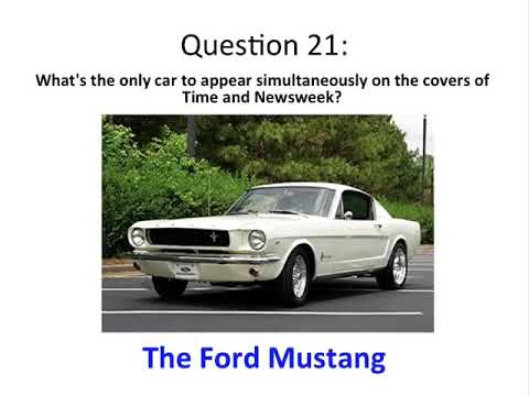 39 Car Trivia Questions In 10 Minutes Over 100 Car Facts Can You