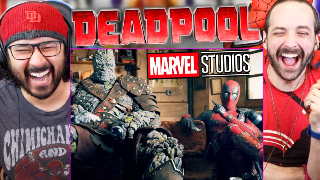 Download Deadpool And Korg React   DEADPOOL FIRST MCU SCENE - REACTION!! (Teaser Trailer   Free Guy)