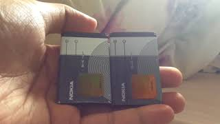 Comparison of the fake (imitation) and real (genuine) Nokia BL-4C batteries