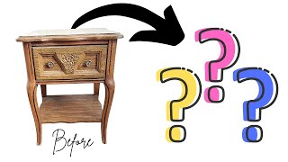 Trash to Treasure Side Table Goes Modern Whimsy