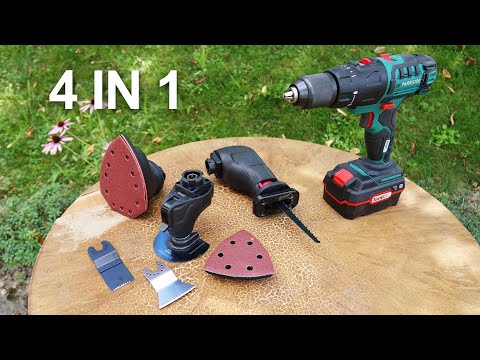 4 in 1 Multi Tool - Parkside PKGA 20-Li C2 | Unboxing and Test