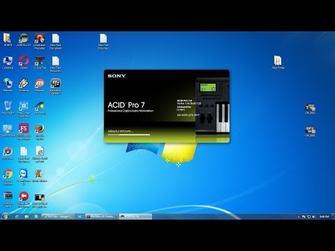 How to install Acid Pro 7 0 on windows 7 or 10