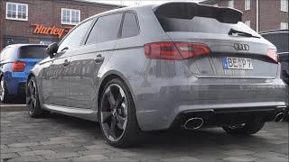 loud audi rs3 sportback 8v start up revs launch control accelerations