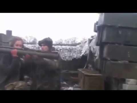 Новости War Ukraine, АТО, ВСУ: Девушка стреляет из РПГ / Last News, Donetsk, Mariupol, Shyrokyne