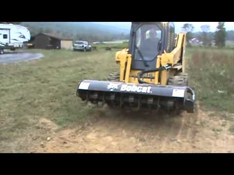 "Bobcat Skid Steer >> 2012 Bobcat 76"" Roto Tiller Attachment For A Skid Steer Loader For Sale Mark Supply Co - YouTube"