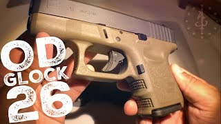 OD GREEN Glock 26 Gen 3 Review CA LEGAL