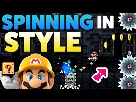Super Mario Maker - SPIN IN STYLE! - Level Showcases