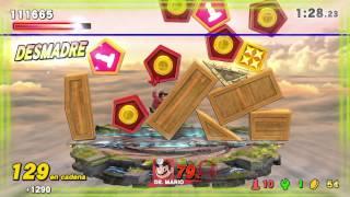 Super Smash Bros. for WiiU - Desafío entra en modo desmadre 8 veces en Cazatesoros con Dr. Mario