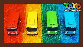 Rainbow Color Buses l Tayo Super Rescue Team l Tayo the Little Bus