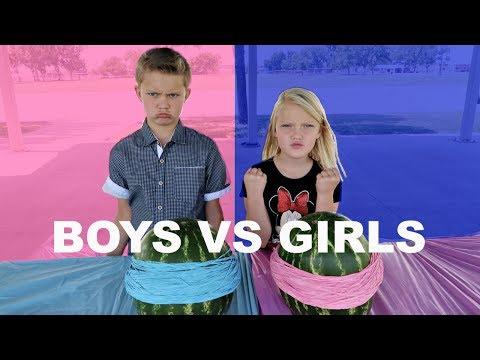 EXPLODING WATERMELONS CHALLENGE!! | BOYS VS GIRLS!