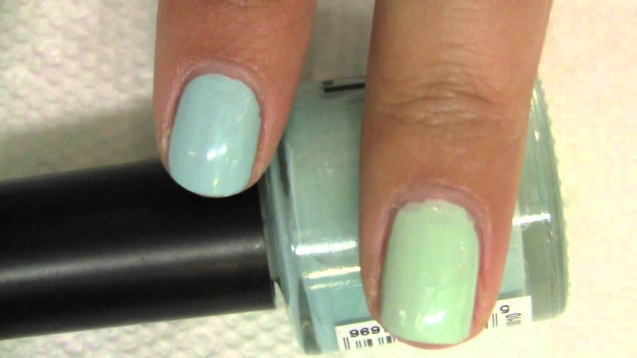 Battle of the Mint Green Nail Polishes! - YouTube