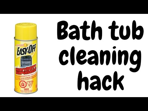 Does easy off oven cleaner work for bathtubs | bathtub cleaning hack