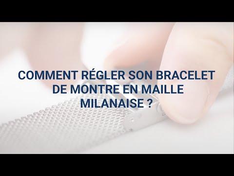 order online new arrivals best website Comment régler son bracelet en maille milanaise ? - YouTube