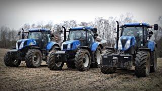 Prace wiosenne 2016 - New Holland T7.185, T6050, T6050 Plus, T6.175