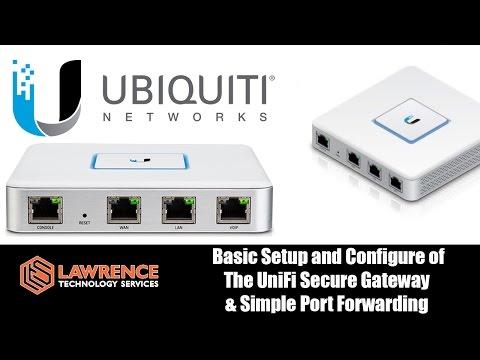 UniFi Secure Gateway (USG) review and basic setup including Port Forwarding