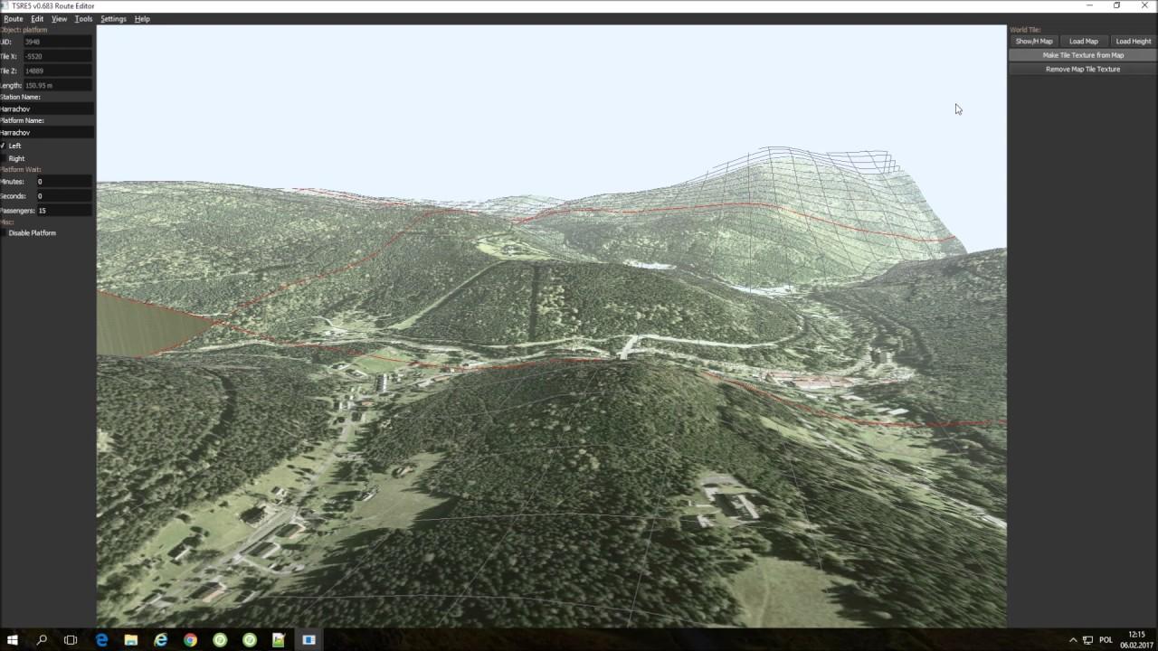 Train Simulator Route Editor 5 Create Terrain Texture