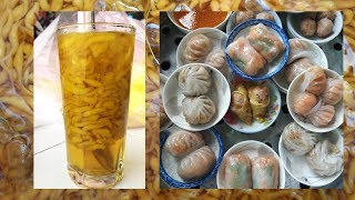 Món ngon ở khu ẩm thực đường Xóm Đất, quận 11 vào buổi sáng: Há cảo, xíu mại, quầy fá fảnh (槐花粉)