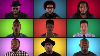 Jimmy Fallon, The Roots   Star Wars The Force Awakens Cast Sing Star Wars Medley A Cappella