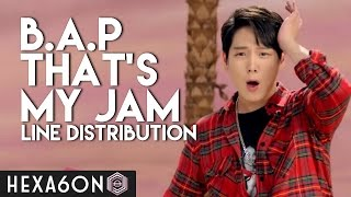 B A P That S My Jam Line Distribution Color Coded
