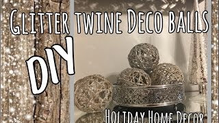 Glitter Twine Balls DIY   Glam Holiday Home Decor   The Green Notebook