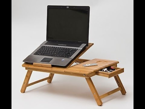 Ordinaire Wooden Bamboo Laptop Table For Bed With Big Cooling Fan The Perfect Gift