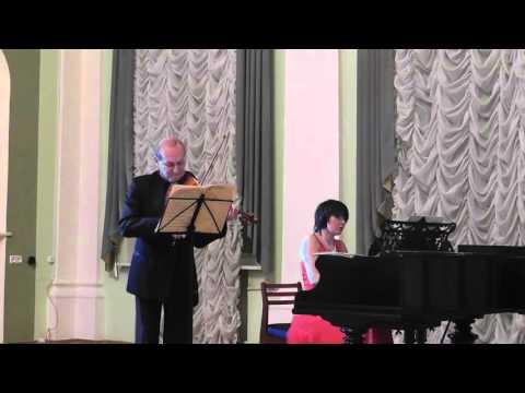 Бетховен Соната для скрипки и фортепиано №2. Александр Чернов и Наталья Богданова
