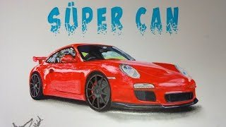Porsche 911 GT3 Çizimi | Car Drawing