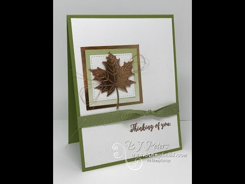 Tips & Tricks with BJ;  Colorful Seasons - embossing on a die cut