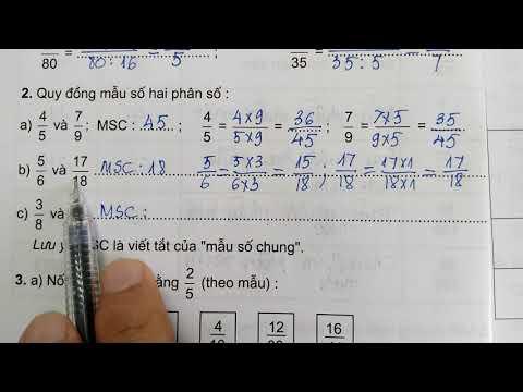 Vở bài tập toán lớp 5 tập 1 - Bài 2 ÔN TẬP TÍNH CHẤT CƠ BẢN CỦA PHÂN SỐ trang 4