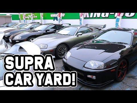 SO MANY SUPRA'S FOR SALE IN JAPAN CAR YARD!