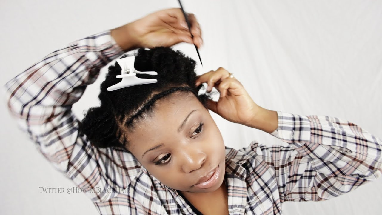 Braid Pattern For Invisible Part Sew In Weave Hairstyles Tutorial Part 2