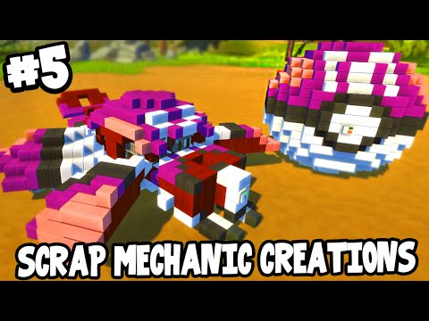 Scrap Mechanic CREATIONS! - FLYING MASTER BALL! [#5] W/AshDubh | Gameplay |