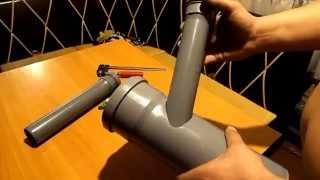как быстро врезать трубу под углом не по центру(В видео показываю примитивный способ врезки одной трубы в другую под углом и не по центру,так же этот способ..., 2015-02-21T02:24:06.000Z)