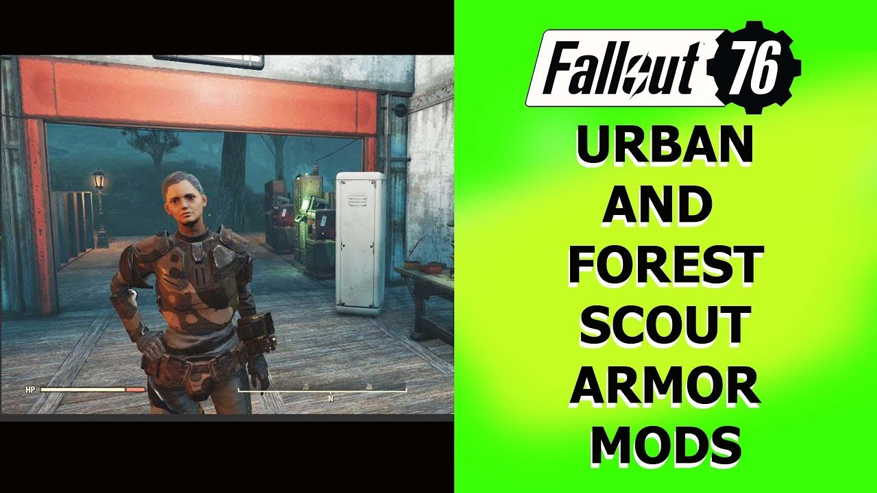 Fallout 76 Urban and Forest Scout Armor MODS
