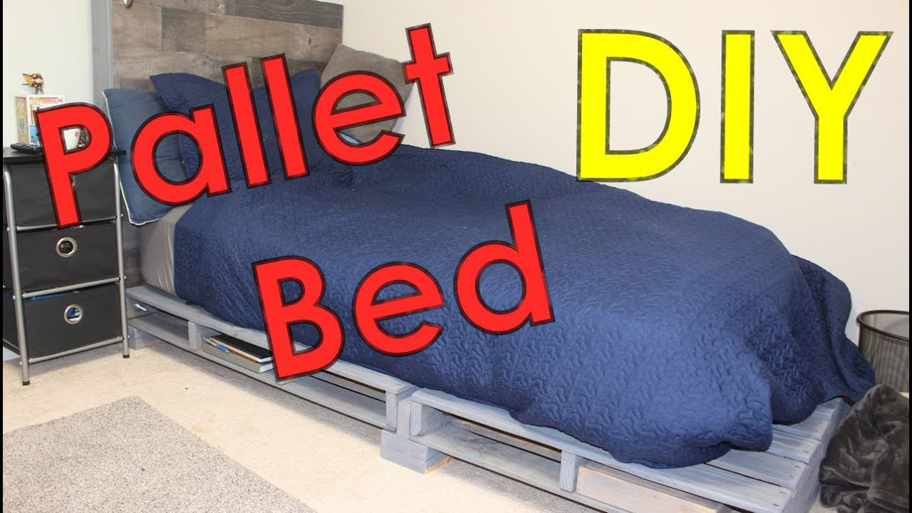 Pallet Bed Frame Easy Diy Pallet Projects Youtube