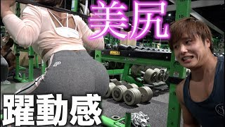 日本一綺麗なお尻のスクワットがもはや芸術的すぎて筋トレじゃないwww thumbnail
