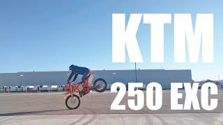 Enduro Wheelie & Stoppie Training KTM 250 EXC XCW