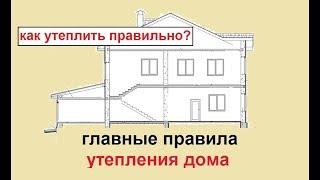 Утепление дома.  Часть 1.  Главные правила(, 2015-04-28T12:17:04.000Z)