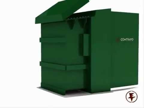 Montagem em 3D do Transformador Pedestal COMTRAFO
