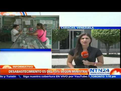 Ministra de salud venezolana niega escasez masiva de medicamentos en el país