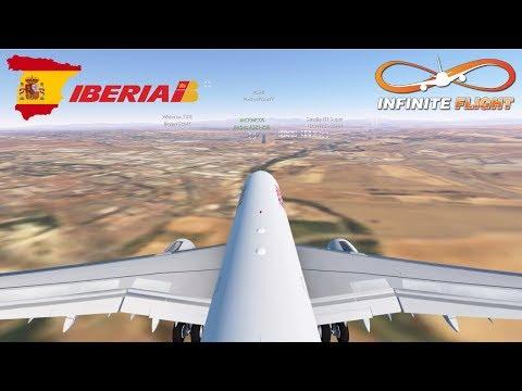 Infinite Flight GLOBAL: Barcelona (BCN) To Alicante (ALC) Via Madrid (MAD) - TIMELAPSE | Iberia A321