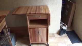 Travel Trailer Remodel Part 4:  7222 Catskill Craftsmen 20 Inch Drop Leaf Cabinet Cart