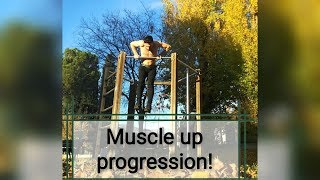 My clean muscle up progression in 2 months! CALISTHENICS