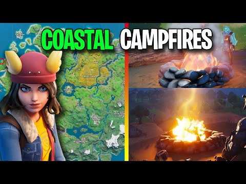Visit Skye's Coastal Campfires - ALL LOCATIONS Fortnite Week 7 Challenges!